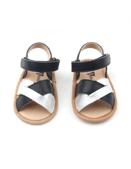 Crosstype Sandals - Black & Silver