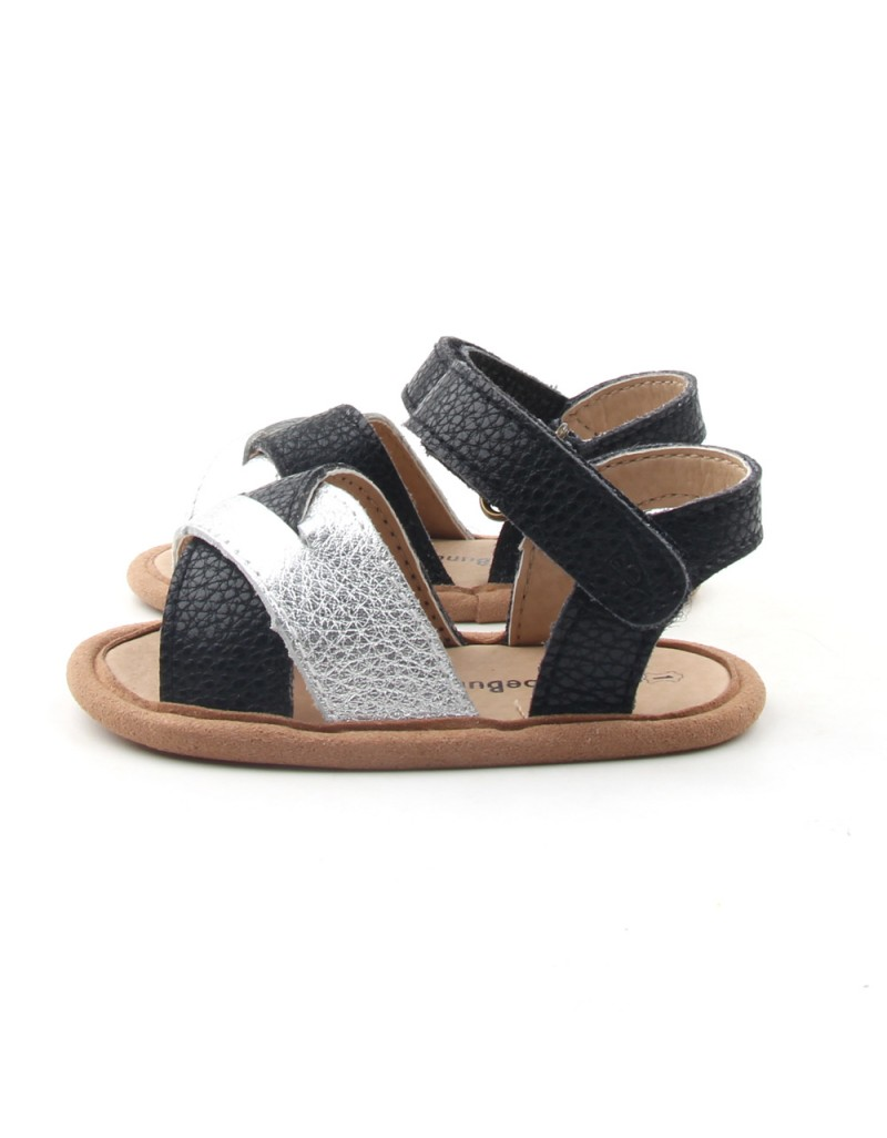 Crosstype Sandals - Black & Silver