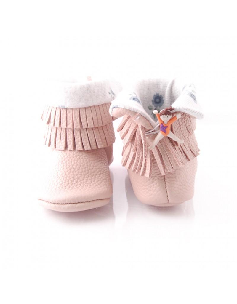Boots Mocccasin - Pale Pink