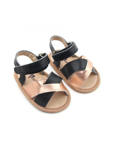 Crosstype Sandals - Black & Gold