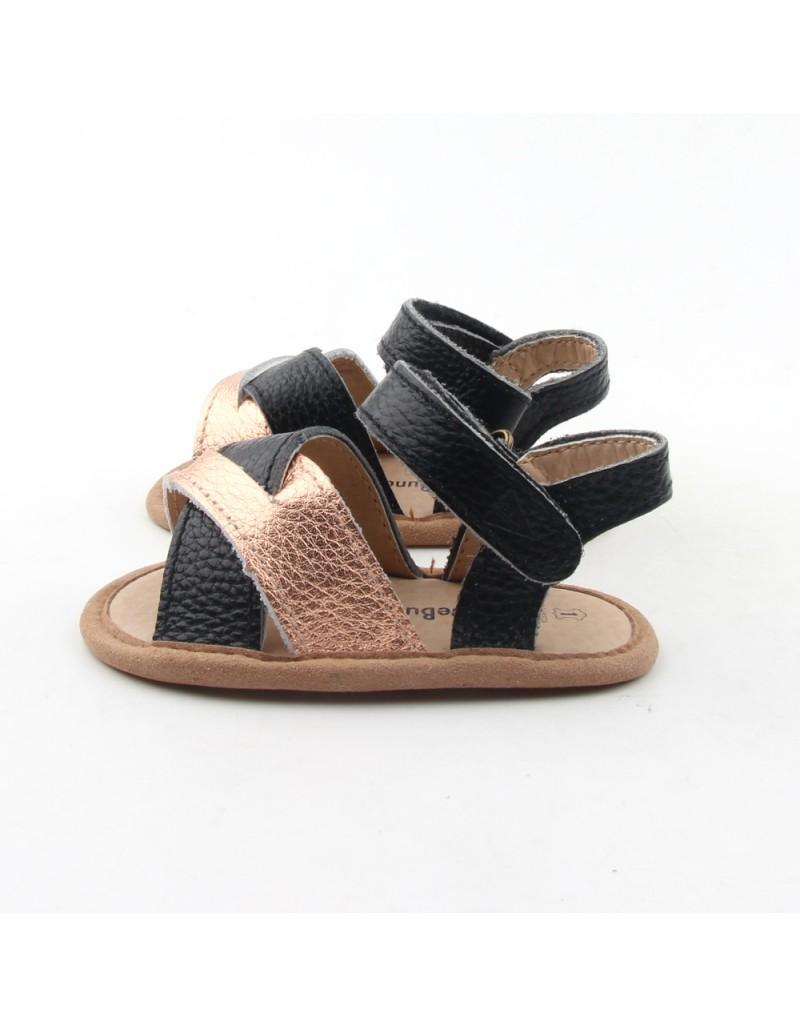 Crosstype Sandals - Black & Gold