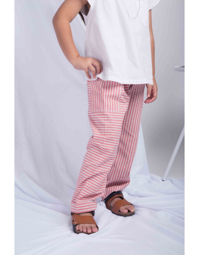 Stripey Pants - Red