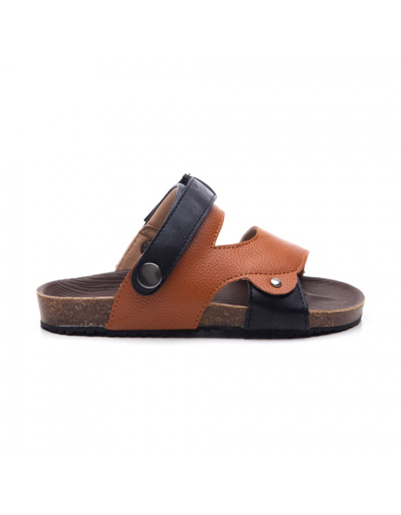 Sarungje Sandals - Black & Camel